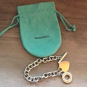 Authentic Tiffany and Co Heart Toggle Bracelet